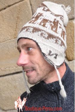 Bonnet péruvien homme blanc