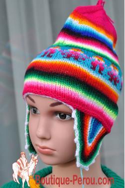Bonnet péruvien enfant garçon ou fille