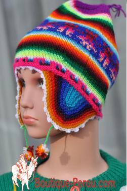 Bonnet péruvien enfant