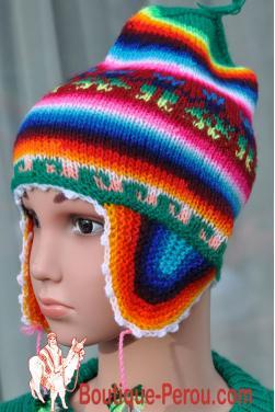 Bonnet péruvien pour bébé