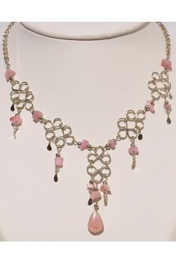 Collier en quartz rose - Chaska