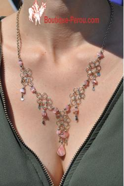 Collier en quartz rose - Chaska