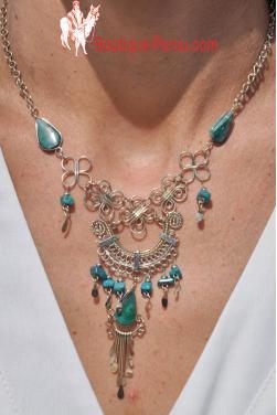 Collier Quilla pierre turquoise