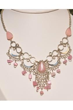 Collier Kantuta en quartz rose