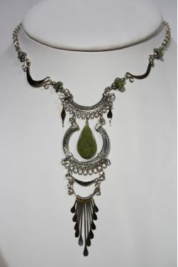 Collier Inti pierre serpentine