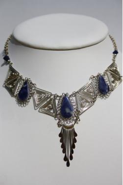 Collier Kuntur en pierre lapis-lazuli