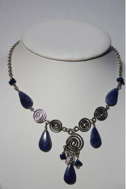 Collier Nazca pierre lapis-lazuli