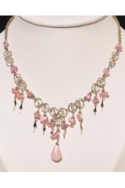 Collier Qosqo pierre quartz rose