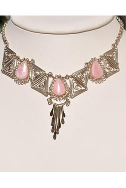 Collier Kuntur en pierre quartz rose
