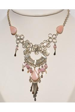 Collier Quilla pierre quartz rose