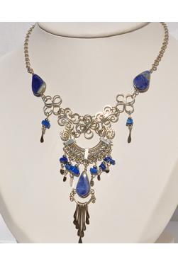 Collier Quilla pierre lapis-lazuli