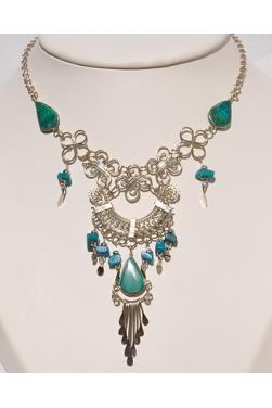 Collier Quilla pierre turquoise