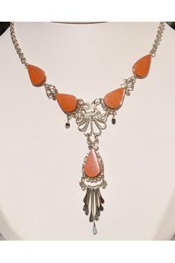 Collier Tika pierre jaspe rouge