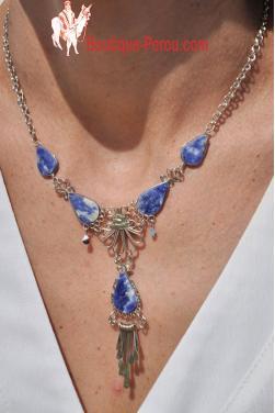 Collier Tika pierre lapis-lazuli