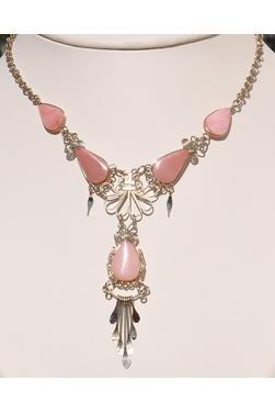 Collier Tika pierre quartz rose