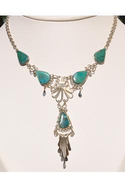 Collier Tika pierre turquoise