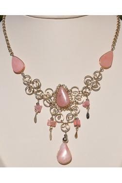 Collier Warmi pierre quartz rose