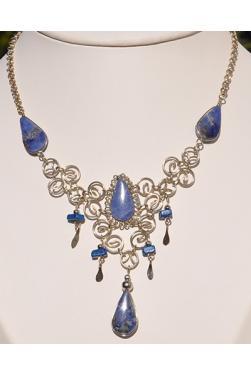 Collier Warmi pierre lapis-lazuli