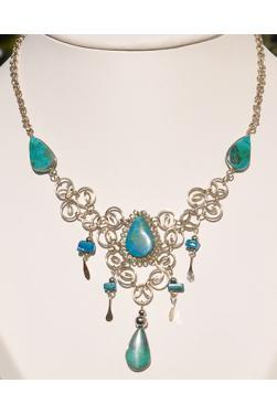 Collier Warmi pierre turquoise