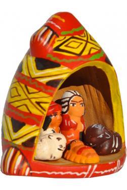 Creche bonnet peruvien
