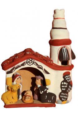 Creche peruvienne d'Ayacucho en ceramique.