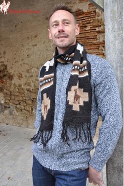 Echarpe homme en pure laine d'alpaga