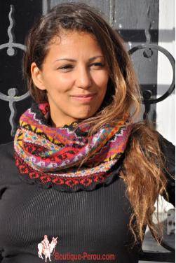 Écharpe foulard femme rond anneau ovale tube snood.
