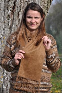 Echarpe couleur vigogne