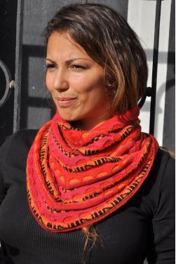 Echarpe rouge Pachamama