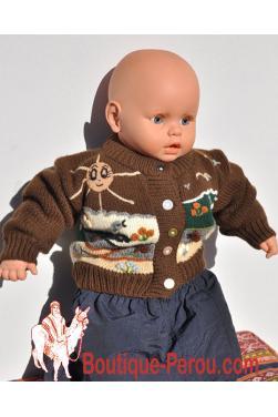 Gilet péruvien bébé