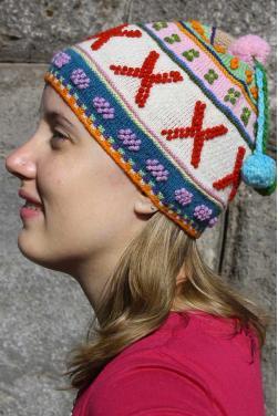 Bonnet pour femme couleurs d'hiver