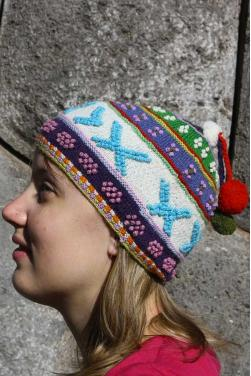 Bonnet d'hiver en laine d'alpaga