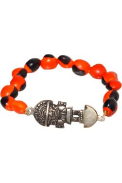Bracelet huayruro avec le Tumi.