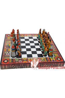 Jeux d'échecs les Incas contre les Espagnols