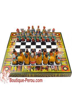 Jeux d échec péruvien en bois