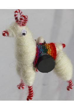 Lama blanc magnet