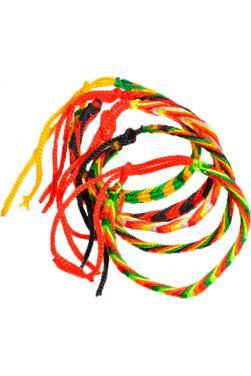 Lot de cinq bracelets indien porte bonheur aux couleurs du printemps