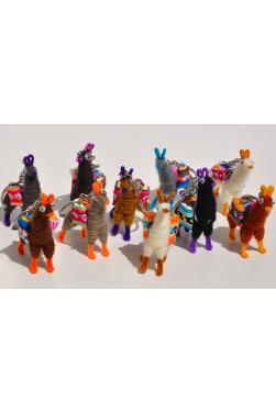 Dix porte clés lamas