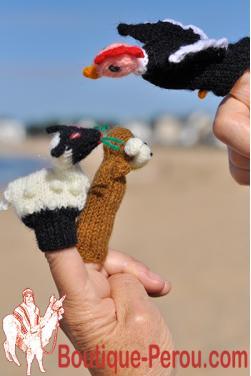 Marionnettes à doigt - Mouton, singe et condor