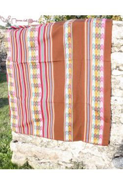 Tissu ou Manta marron