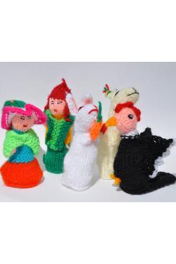 Lot de 5 marionnettes à doigts paysan péruvien