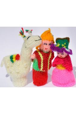 Lot de 3 marionnettes à doigts