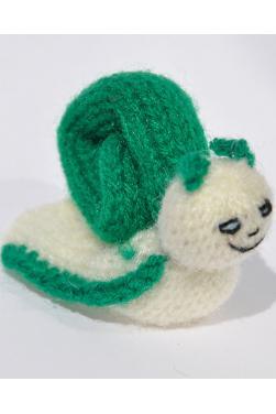 Marionnette à doigt - Escargot vert