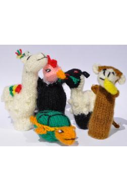 Lot de 5 marionnettes à doigts histoire d'animaux