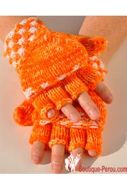 Moufles mitaines en laine du Perou