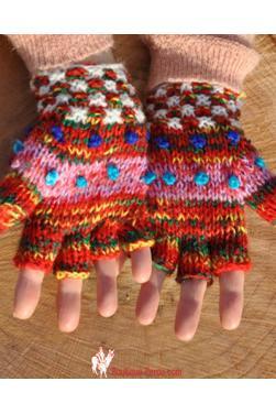 Moufles en laine du Perou