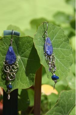 Boucles d'oreille Qosqo - Lapis-lazuli