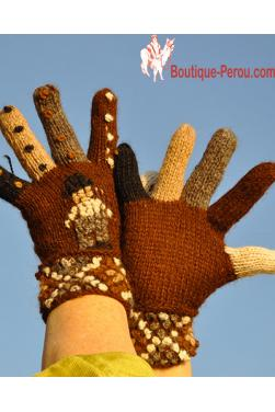 Gants couleurs des Andes