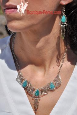 Parure Condor bijoux indien des Andes