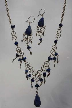 Parure bijoux Qosqo en pierre lapis-lazuli